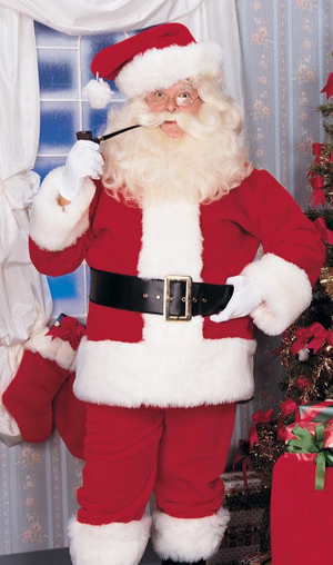 COSTUME RENTAL - S100A IMPERIAL SANTA  RED SUIT  XL