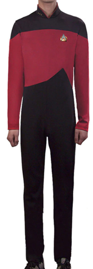 COSTUME RENTAL - E41 Star Trek Red Jumpsuit