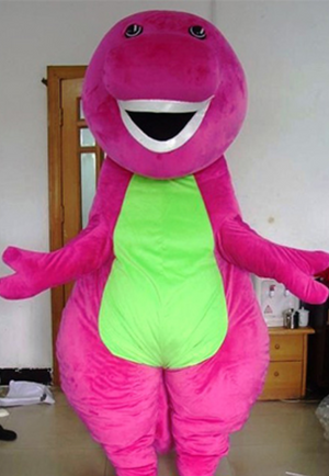 COSTUME RENTAL - R129 Purple Dino ..4 pieces