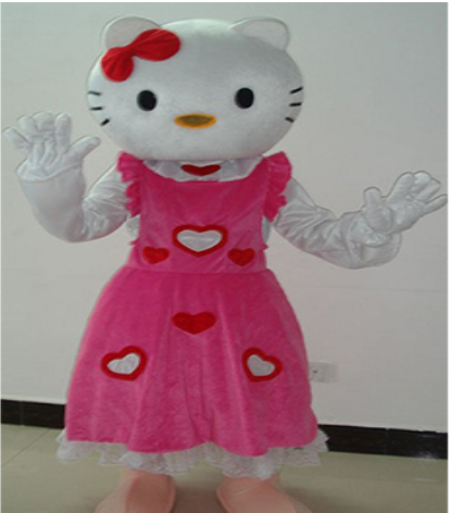 COSTUME RENTAL - R115 Hello Miss Kitty 7 pcs