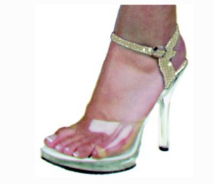 COSTUME RENTAL - Z39 Disco WhIte Stiletto Shoe Rental Large