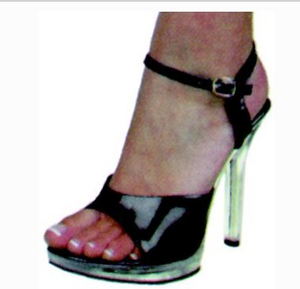 COSTUME RENTAL - Z41 Disco Stiletto Shoe Rental SMALL black