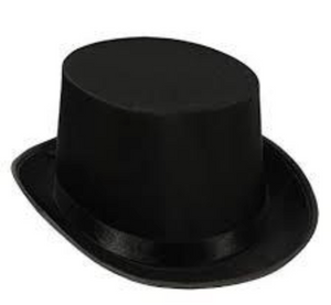 COSTUME RENTAL - Z33 Black Tophat