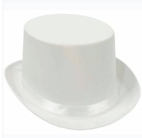 COSTUME RENTAL - Z36 White Tophat Rental