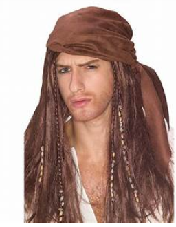 WIG: Caribbean pirate wig
