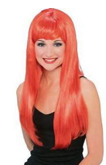 WIG: Glamour Wig Red