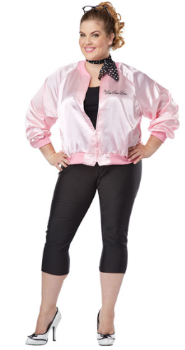 ADULT COSTUME: 1950's Pink Ladies Jacket Plus