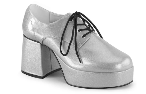 SHOES: Platform Shoes- Pearl SIlver/Gold