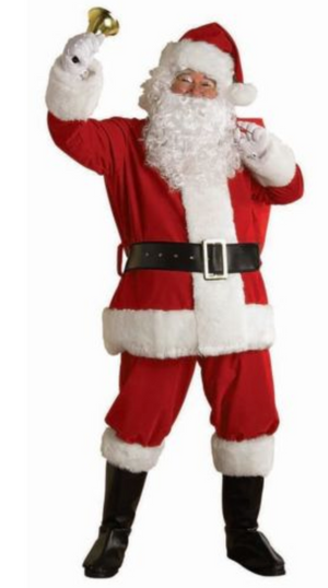ADULT COSTUMES:  REGAL PLUSH SANTA SUIT - BRIGHT RED