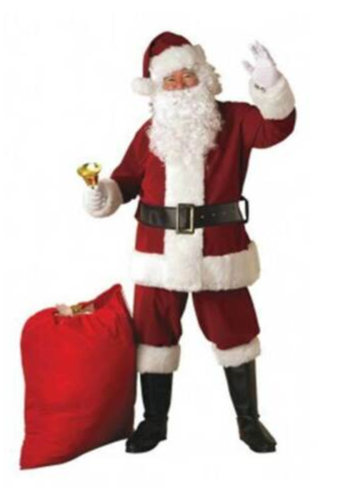 ADULT COSTUMES:  REGAL PLUSH SANTA SUIT - CRIMSON