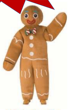 COSTUME RENTAL - R141A Gingerbread Man