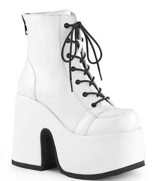 COSTUME RENTAL - Z53 White Platforms Size 9