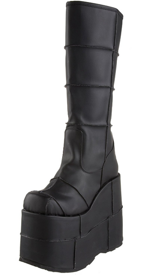 SHOE RENTAL - Z51 Black Stack Platforms Size 10