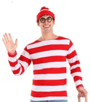 COSTUME RENTAL - E116 Where's Waldo Costume
