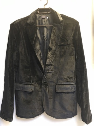 COSTUME RENTAL - X55A Retro Black Velour Jacket