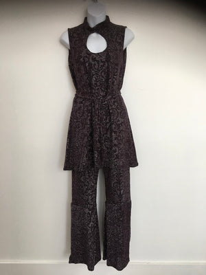 COSTUME RENTAL - X266 Boogie Nights Purple Shimmer Outfit