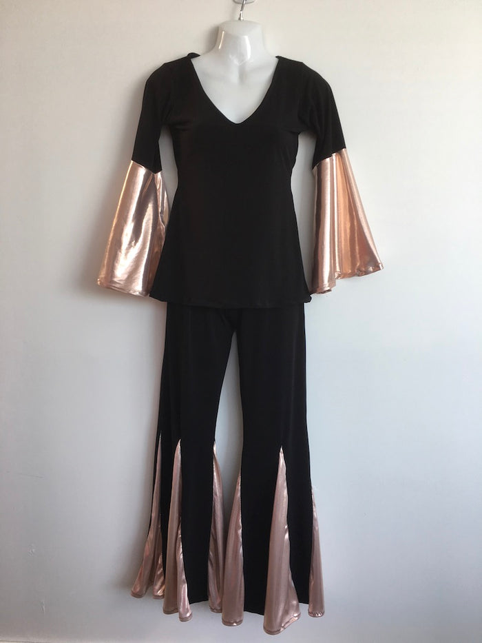 COSTUME RENTAL - X261 Boogie Nights Rose Gold Outfit