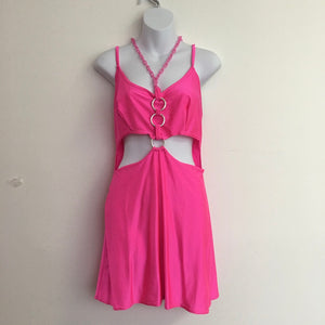 COSTUME RENTAL - Y6 1980's Pretty Woman Pink Dress