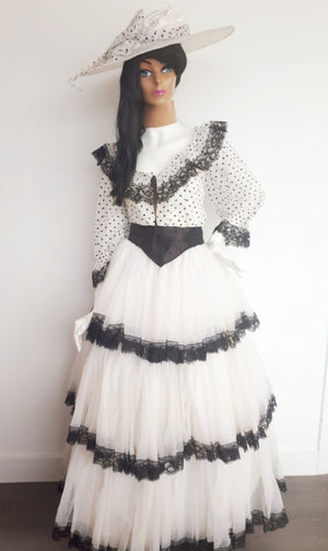 COSTUME RENTAL - L4 Southern Belle , 6 pcs (black and white)