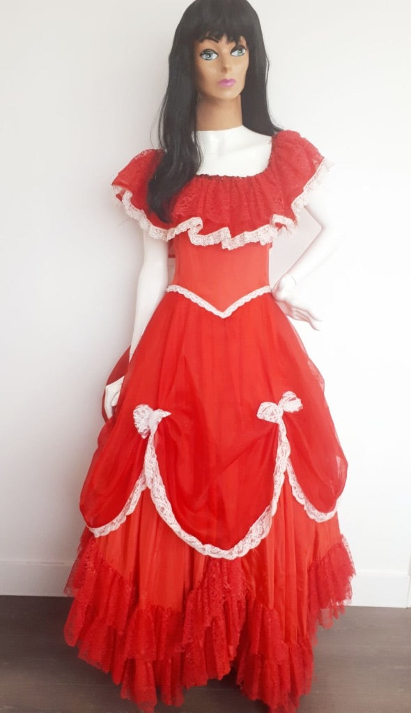 COSTUME RENTAL - L2 Southern belle, Red