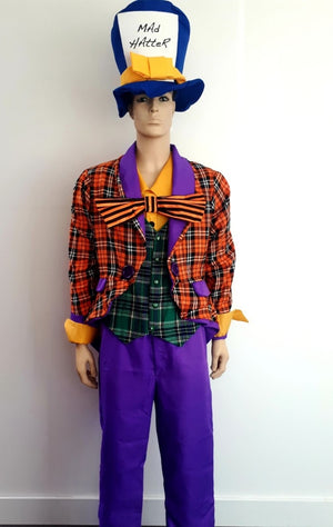 COSTUME RENTAL - D21 - Mad Hatter 4 pcs