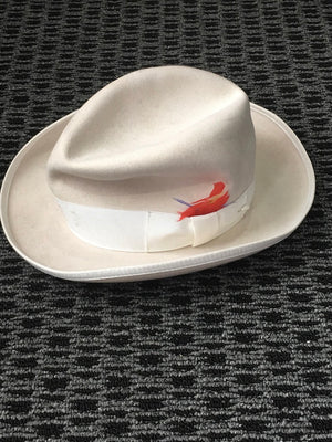 COSTUME RENTAL - Z43 White Gangster Hat