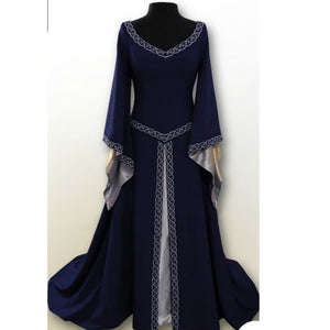 COSTUME RENTAL - A16 Blue Fair Maiden  2pc