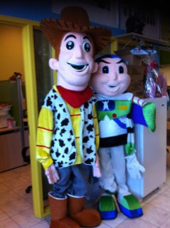 COSTUME RENTAL - R118 Cowboy Woody Mascot..8 pieces...