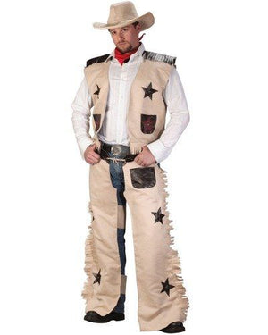 ADULT COSTUME: Cowboy Costume Tan colour
