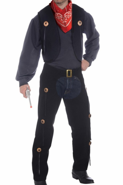 COSTUME RENTAL - H36 Cowboy Chaps and Vest