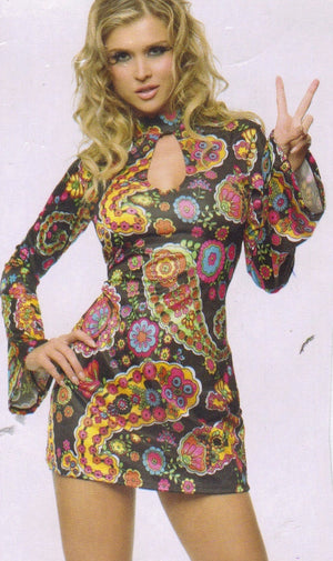 COSTUME RENTAL - X223 1960'S Dress, Flower Child