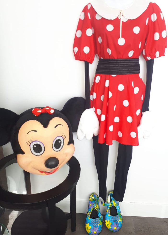 COSTUME RENTAL - R112b Miss Mouse.. 7 pieces