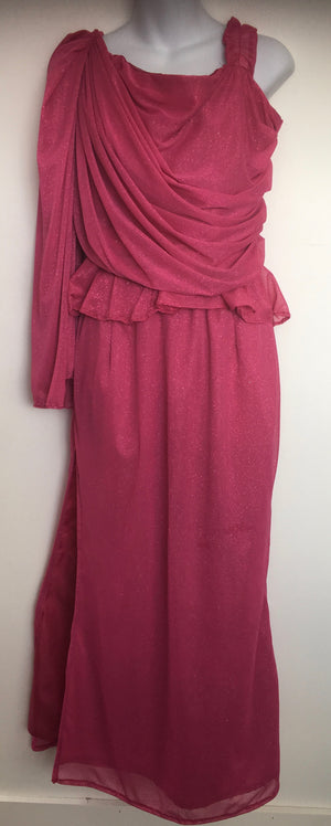COSTUME RENTAL - X277 1970's Jumpsuit, Boogie Nights Pink Shimmer