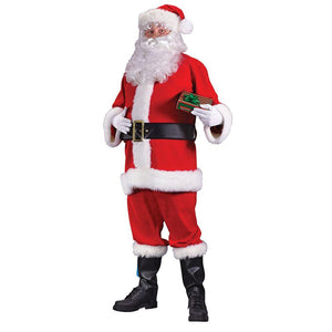 ADULT COSTUMES:  VELOUR SANTA SUIT - XL