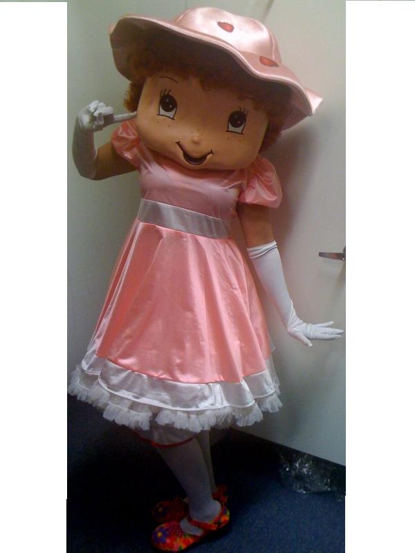 COSTUME RENTAL - R136 Strawberry Girl ..8 pieces