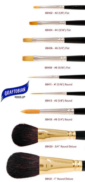 MAKEUP: Graftobian #2 Brush Round 1/8 inch