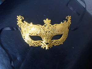 MASK:  Fancy gold glitter mask