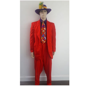 COSTUME RENTAL - J20  1920's The Boss Zoot Suit (red)