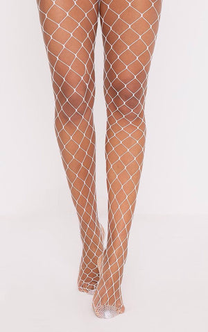 ACCESS: Tights, Fishnets , White