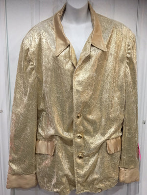 COSTUME RENTAL - X68 Disco Jacket, Gold pimp sequin dot XXL