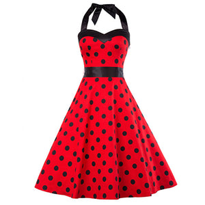 COSTUME RENTAL - J47 1950's Dress, Red Polka Dot, 2 pieces