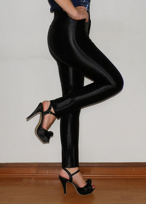 COSTUME RENTAL - X330 Shiny Black Disco Pants