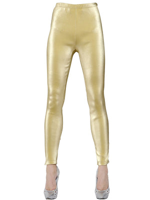 COSTUME RENTAL - Y11 1980's Gold Lame  Pants