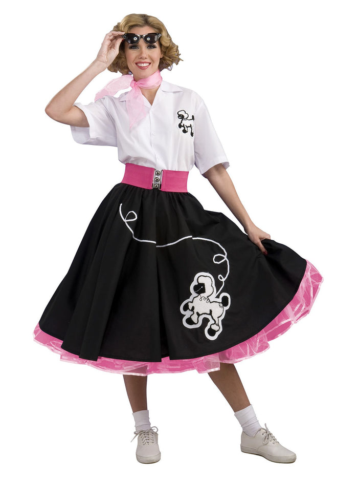 COSTUME RENTAL - J35 1950's Black with Pink Poodle Outfit