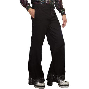 COSTUME RENTAL - X86 Disco Pants, Black with sequin trim