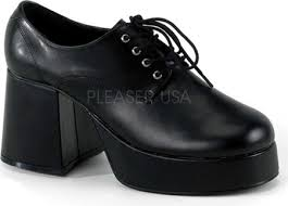 SHOES: Platform Shoes  Flat Black