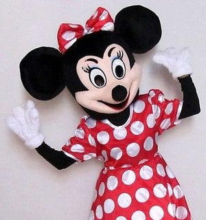 COSTUME RENTAL - r2017b Mrs. Mouse..dress, head, 2 hands, tights, panties, 2 shoes, shirt - 9 pieces