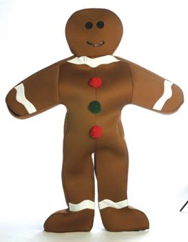 COSTUME RENTAL - R141 Gingerbread Man -1 pc