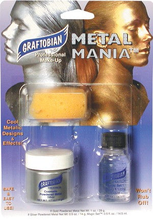 MAKEUP: Graftobian Metal Mania Silver Kit