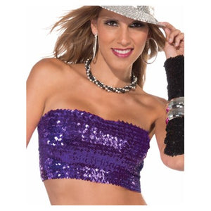 COSTUME RENTAL - X321 1970's Tube Top Purple